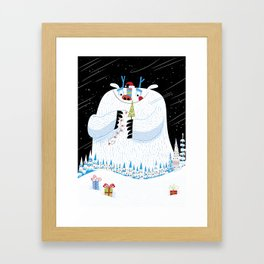 George, the Christmas Yeti  Framed Art Print
