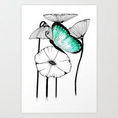 Wild garden Art Print
