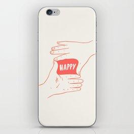 Focus on Happy iPhone Skin