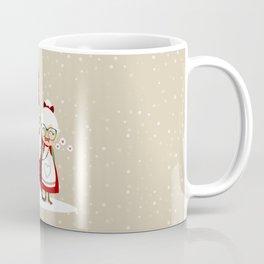 Père & Mère Noël (beige avec flocons) Coffee Mug