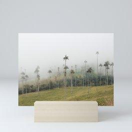 Palm trees mist   Travel Photo in Salento Colombia   Print Art Mini Art Print