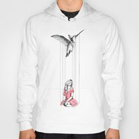 hummingbird Hoodies featuring Hummingbird by Libby Watkins Illustration