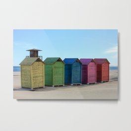 Colorful beach cabinets Metal Print