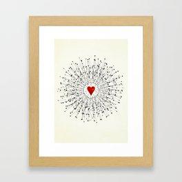 Heart&Arrows Framed Art Print