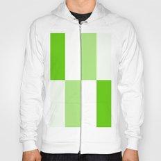 Green and White Gradient Blocks Hoody