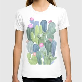 Cacti Love / Watercolor Cactus Pattern T-shirt