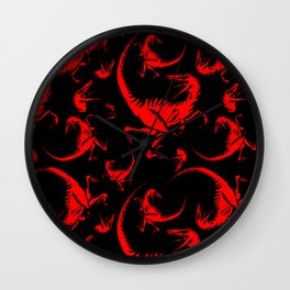 'RAPTOR FRENZY' Pattern Wall Clock