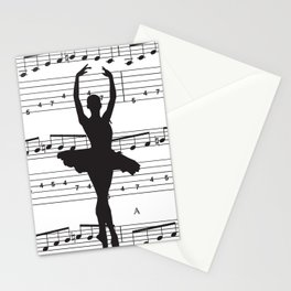 ballerina art, music Notes , girls nursery art, ballerina décor , girls nursery art , Stationery Cards