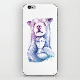 Wall Art - Bear Hand Drawn iPhone Skin