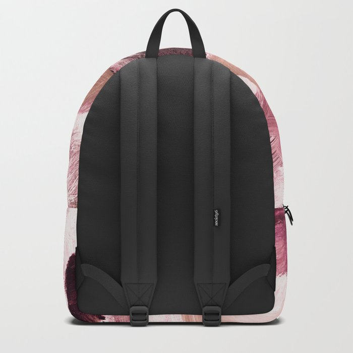 abstract painting VI - coffee and rose Backpack