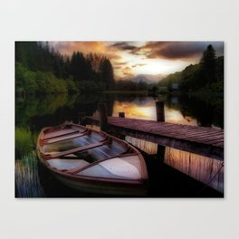 Summer Sunset Over Loch Ard Canvas Print