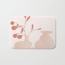 Minimal Branches and Vases Bath Mat
