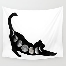 Moon Cat Wall Tapestry