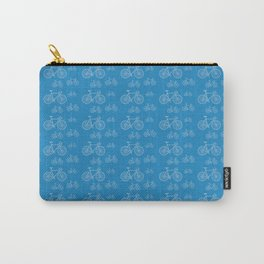 Blue Bike Pattern Carry-All Pouch
