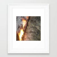 swedish Framed Art Prints featuring Swedish fire by ilsephilips