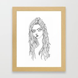 Silly Sally Framed Art Print