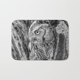 Echo the Screech Owl by Teresa Thompson Bath Mat