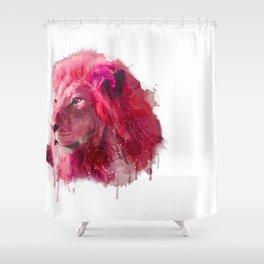 Rose Lion Shower Curtain