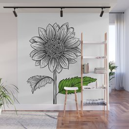 Trypophobia Sunflower Wall Mural