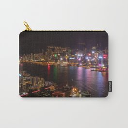 Night Lights on Hong Kong's Victoria Harbour Carry-All Pouch