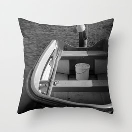The Boat - BW Throw Pillow