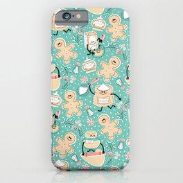 Baking Gingerbread - Retro Pastels iPhone Case