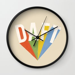 Letters : Daft Wall Clock