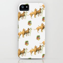 CHRISTMAS DOGS PATTERN iPhone Case