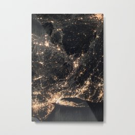 1002 - ISS Map of Connecticut & New Jersey Metal Print