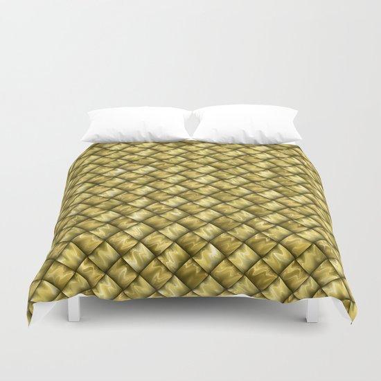 Patchwork Gold Duvet Cover