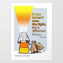 seeing a different light Art Print