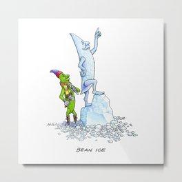 Bean Ice Metal Print