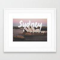 sydney Framed Art Prints featuring Sydney by Tinne Cornelissen