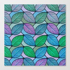 Leaf Chevron Pattern Canvas Print