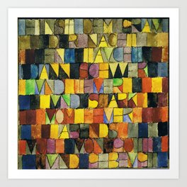 Paul Klee Once Emerged from the Gray of Night Art Print