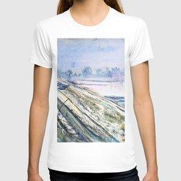 Stanislaw Wyspianski - View of Kosciuszko Mound from the artist's atelier - Digital Remastered Edition T-shirt