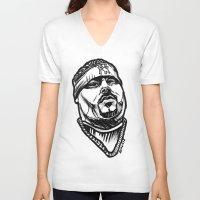 pun V-neck T-shirts featuring Big Pun by sketchnkustom