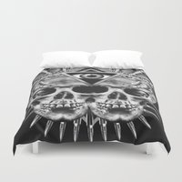 illuminati Duvet Covers featuring Illuminati I by NOXBIL