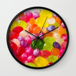 Colorful Sweet Candies Wall Clock