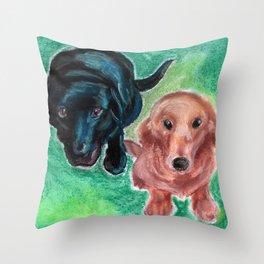 Puppy Eyes Throw Pillow
