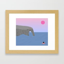 Time // Place Framed Art Print