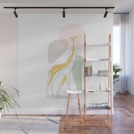 the beauty gold cow Wall Mural