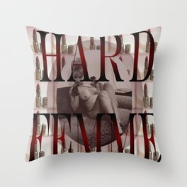 Hard Femme - Pin Up Girl Throw Pillow