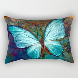 The Blue butterfly Rectangular Pillow