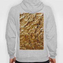 Crumpled Golden Foil Hoody