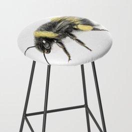 White-tailed bumblebee Bar Stool