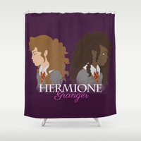 hermione Shower Curtains featuring Hermione Granger by HappyQiwi