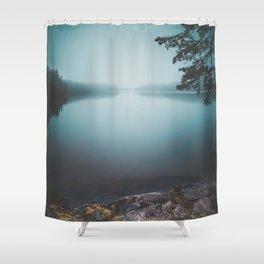 Lake insomnia Shower Curtain