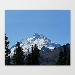 Snow Cap on the Mountain Canvas Print