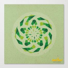 Mandala no.2 Green Canvas Print